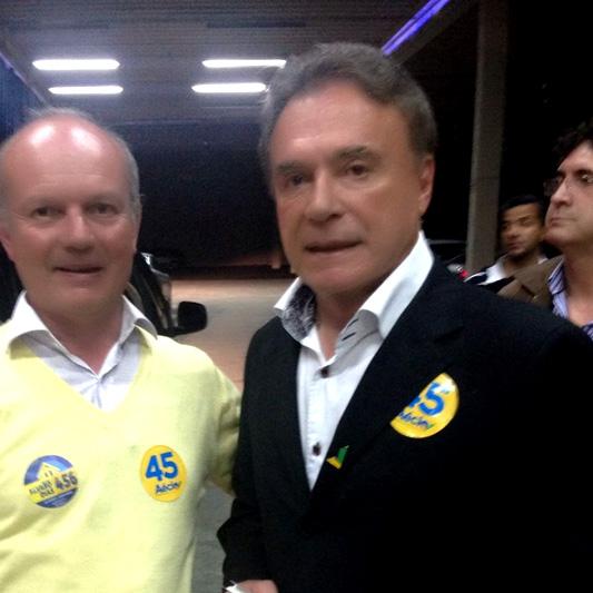 Luiz Rorato com Álvaro Dias